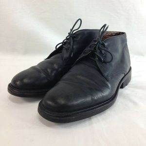 Cole Haan Shoes Chukka Black Leather Sherpa Lined